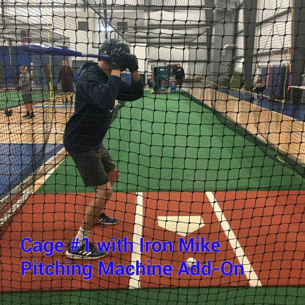 Indoor Batting Cages at Performance FieldHouse with Iron Mike Pitching Machine
