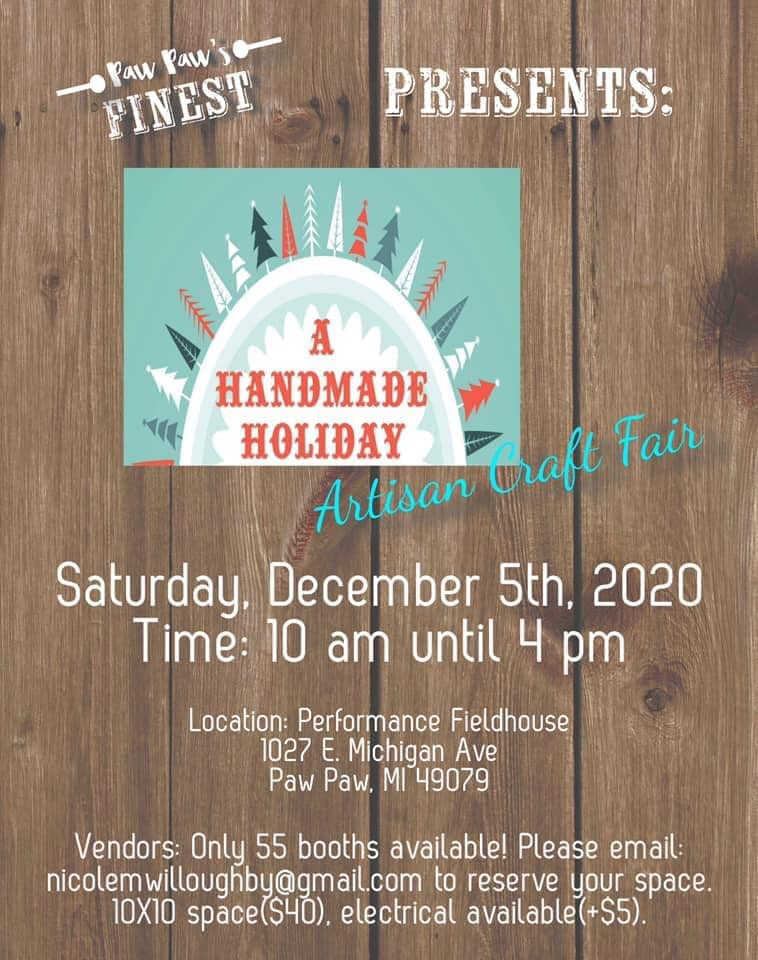 A Handmade Holiday - Craft Fair Near Gobles, MI